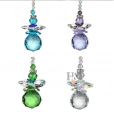 Set 4 Rainbow Crystal Balls Drops Wedding Angel Decor Pendant Suncatcher 20mm 755082648670  152974236233