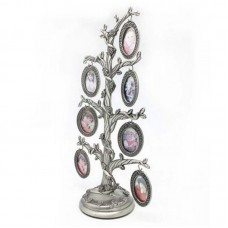 Silver Finish Metal Family Tree Photo Stand Picture Collage Frame Christmas Gift   173470505540