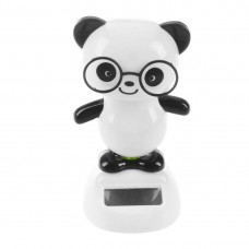 Solar Power Dancing Figures Panda,Novelty Desk Car Toy Ornament C5A1   122827825344