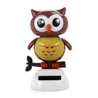 Solar Powered Dancing bird Big Eye Brown Owl,Novelty Desk Car Toy Ornament G4S1 190268720670  182959268658