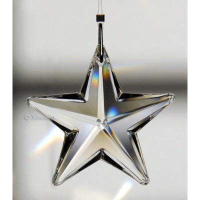 Star Prism 43mm Austrian Crystal Clear SunCatcher Pendant 1-2/3 inches   202398515629