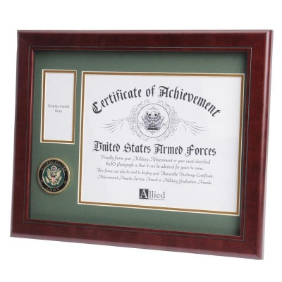 U.S. Army Medallion 8-Inch by 10-Inch Certificate and Medal Frame 91683590230  152779366476