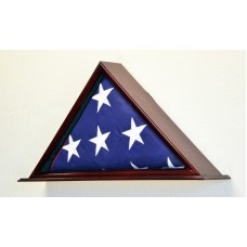 U.S Flag Display Case Rack Holder Box Burial Funeral Casket Military 5x9 Flags   232354681919