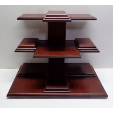Vintage Cherry Color Wooden Heavy Collectible Knick Knack Table Top Shelf JAPAN   153138690680
