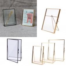 Vintage Glass Freestanding Picture Photo Frame Portrait Holder Table Decoration   152998111150