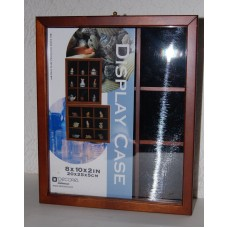 Wood Wall Curio Cabinet Shadow Box Display Case, Wall Mount 9 Cubicles 3 Shelves   173306139730