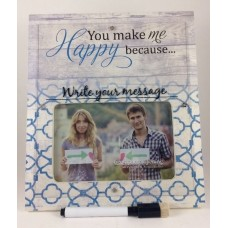 You Make Me Happy Because 4x6 Custom Message Picture Frame   113202334379