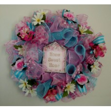 EVERYDAY  DECO MESH  RIBBON WREATH  - Free Shipping   163192879932