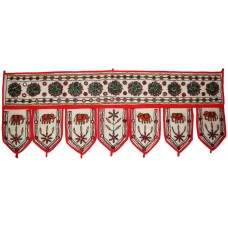 "INDIAN EMBROIDERED DOOR HANGING TORAN VINTAGE COTTON WINDOW VALANCE TAPESTRY 38""   263858366275"