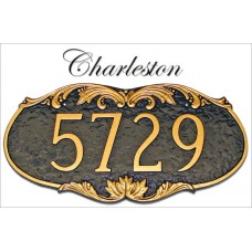 Montague Charleston Address Marker Personalized Plaque - in 2 Mount & 20 Colors   371168231490