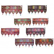 Wholesale Lot  Ethnic Home Decor Tapestry Embroidered Garland Door Hanging India   153113371017