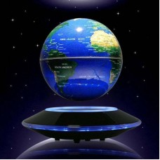 "3/6"" World Map Nightlight 8 LED  Magnetic Levitation Floating Globe Decoration    162489775434"