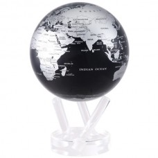 "6"" SBE Mova Globe Sliver and Black Metallic Self Rotating 894220000762  183185764000"
