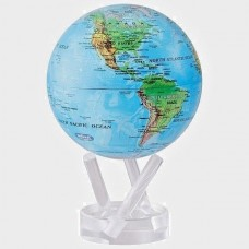 "Mova Globe 6"" RBE RELIEF MAP Self Rotating Blue Globe   183045987389"