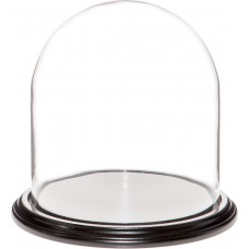 "Plymor Brand 9.75"" x 10"" Glass Display Dome Cloche (Black Wood Veneer Base) 840003144154  202344660448"