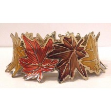 1 BATH & BODY WORKS MAPLE LEAF WREATH CANDLE HOLDER SLEEVE NEW! 667545111433  162678933781