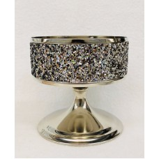 1 Bath & Body Works GLITTER PEDESTAL Large 3-Wick Candle Holder Sleeve 667546642202  152816773579
