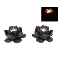 1pce 16cm Lotus Decor Candle Holder, Made of Resin 9319844539166  362148439852