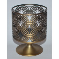 BATH BODY WORKS TIMELESS CIRCLE PEDESTAL LARGE 3 WICK CANDLE HOLDER SLEEVE 14.5 667544897659  172874422955