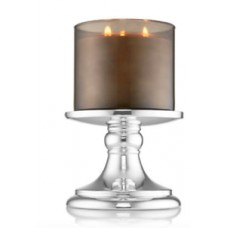BATH & BODY WORKS HEAVY SILVER PEDESTAL 3 WICK CANDLE HOLDER SLEEVE  NEW! 667546582799  162938424651