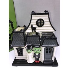 Bath & Body Works Slatkin Haunted House Luminary Mr and Mrs Frankenstein   153040665968