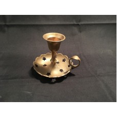 "Candle Holder – Small with Stars Design / Metal ""Brass""  with ""Vintage Look""   322928591810"