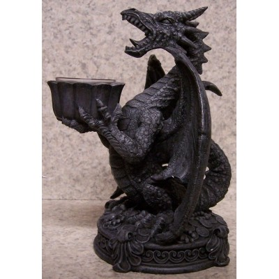 "Candle Holder Screaming Dragon NEW for 1 1/2"" diameter post candle 804112151021  401461513410"