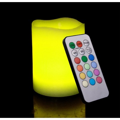 Remote Control Multi-Colour Flameless LED Candle 5035007061858  253359135679