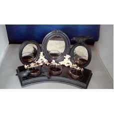 Yankee Candle Raven Mirror  Triple Tea Light Holder    332763759347
