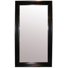 "86"" Tall Floor Mirror Solid Birch Wood Frame Colonial Hand Painted Black 7 Feet   332156205561"