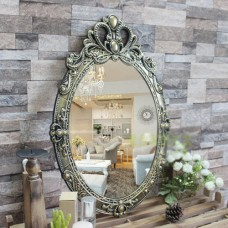 A24 Black Gold  Bathroom Toilet Vanity Wall Makeup Mirror Front Waterproof Y    372401457616