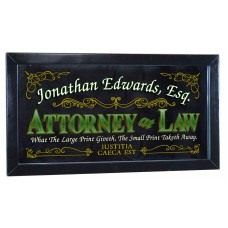 "Attorney Personalized Bar Occupational Business Mirror Sign Pub Office 12""x26""   253807724678"
