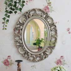 D32 Antique Silver Bathroom Toilet Vanity Wall Makeup Mirror Front Waterproof Y    153139892532