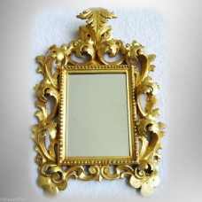 Decorative mirror with vintage ornate gilt wood frame - floral design FREE SHIP   153098724525
