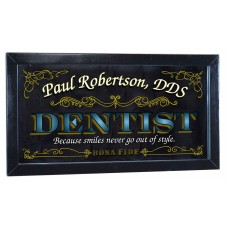 "Dentist Personalized Bar Occupational Business Mirror Sign Pub Office 12"" X 26""   263870306950"