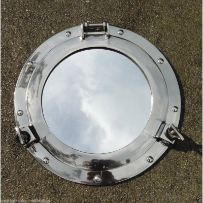Halloween Decor Brass Porthole Mirror Brass Wall Maritime Home Decor   263871853917