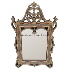 Handcrafted Syrian Moroccan Mother of Pearl Inlaid Wood Wall Mirror Frame   401393000958