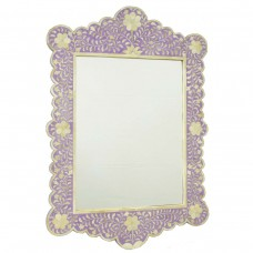 Lilac Bone Inlay Scalloped Mirror   113164395242