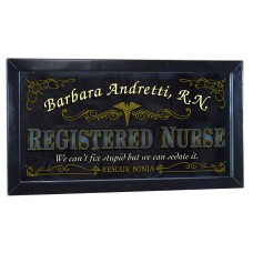Registered Nurse Personalized Bar Occupational Mirror Sign Pub Office   253807814164