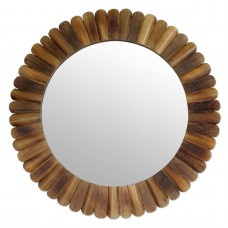 Round Wall Mirror Bamboo Handmade 'Nature's Promise' Original Art NOVICA India   312215958772