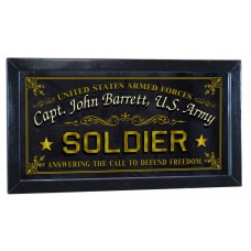 "Soldier Personalized Bar Occupational Mirror Sign Pub Office 12"" x 26""   253807822368"