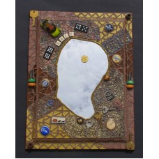 THE MAN WALL MIRROR BEAUTIFUL HANDMADE with BEAUTIFUL THINGS on it MR116   253797269259