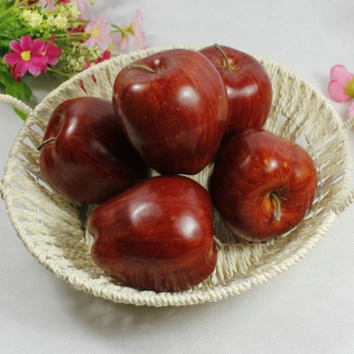 10 artificial fruit faux  RED APPLE fake food kitchen office home party decor   131468594959