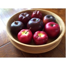 "11 "" Wooden Bowl With Wood Apples And Plastic Apples , Apple Decor   173437366640"