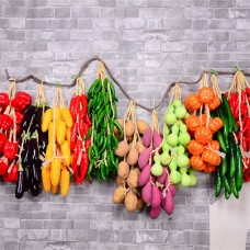 5 Strand Artificial Plastic Foam Fruits Vegetables Wedding Party Hanging Decor   302802671308