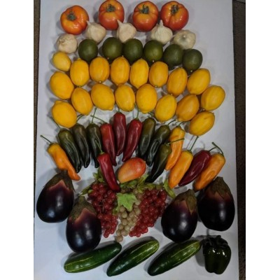 Realistic Plastic Faux Fruit Vegetables Italian Props Decor Lot of 60   323357423445