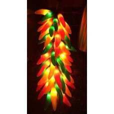 "Vintage Hanging Chili Pepper Light Orange Red & Green Electric 16""   273398056710"