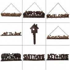 6 Hook Wall Mounted Hanger Key Holder Key Frame Wooden Hanging Home Decor   142628855971