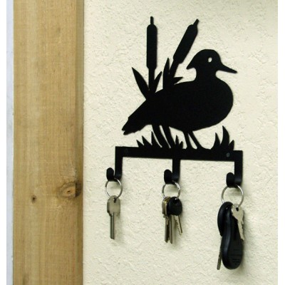 Duck Hunting Key Holder Rustic Lodge Metal Art Mountain Cabin Decor USA MADE   361573129406
