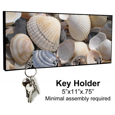 KEY HANGER HOLDER RACK - BEACH #SN12 Sand Sea Ocean Tropical Island Sun Shells 769140576171  152971796343